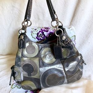 COACH Maggie Mia Inlaid C Hobo Shoulder Bag